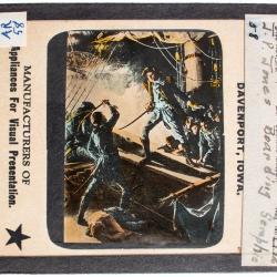Lantern Slide, John Paul Jones Fighting