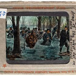 Lantern Slide, Captured Flags of Yorktown