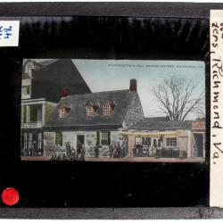 Lantern Slide, French Pay American Soldiers