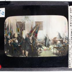 Lantern Slide, Surrender of Cornwallis