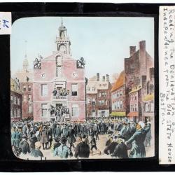 Lantern Slide, Declaration of Independence Draft