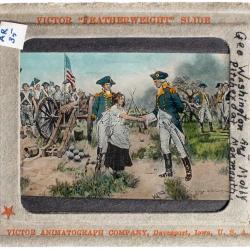 Lantern Slide, Betsy Ross Making Flag