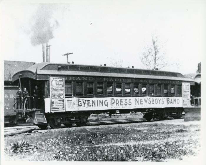 Photograph, Evening Press Rail Car