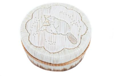 Round, Lidded Quill Box