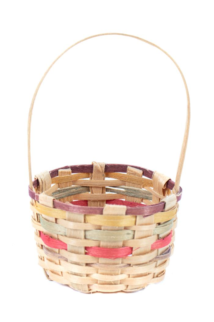 Small Splint Basket With Handle