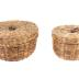 Baskets, Small Round Woven With Lids (2)