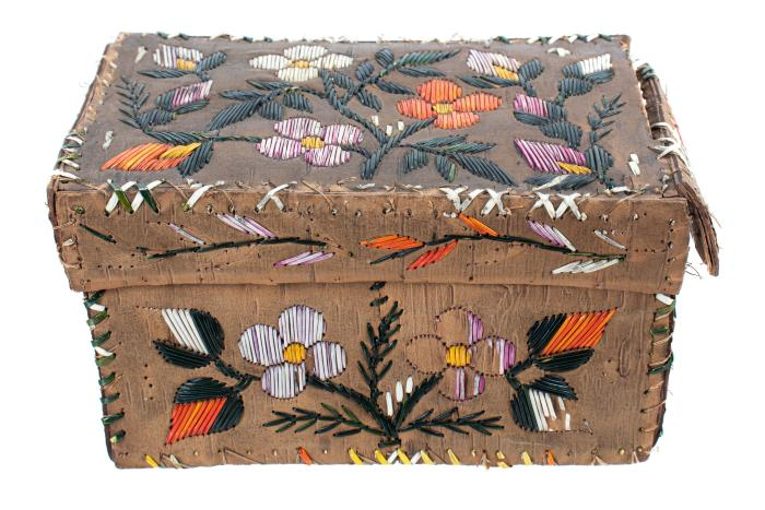 Box And Lid, Birchbark, Ottawa-ojibwa