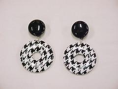 Pair Black & White Earrings