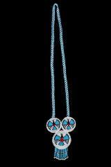 Beaded Rosette Pendant Necklace