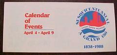 Brochure, Calendar Of Events For Sesquicentennial Of Grand Rapids Michigan 1838-1988
