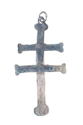 Cross, Double Silver (florentine)