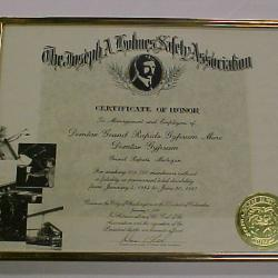 Mine Safety Certificate; Part Of Archival Collection #119