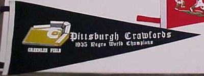 Negro League Pennant, Reproduction, Pittsburgh Crawfords, Negro Baseball Leagues Archival Collection #113