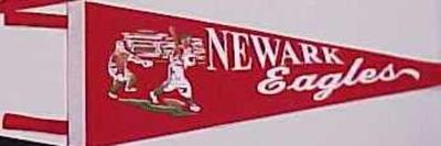 Negro League Pennant, Reproduction, Newark Eagles, Negro Baseball Leagues Archival Collection #113