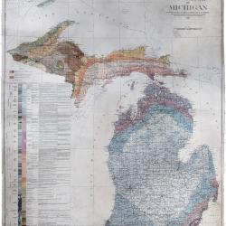 Map, Geological Map of Michigan