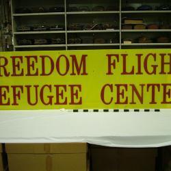 Sign, Freedom Flight Refugee Center