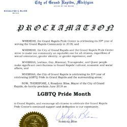 Grand Rapids Pride Proclamation