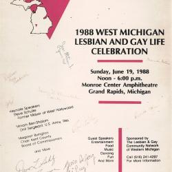 West Michigan Lesbian and Gay Life Celebration Poster