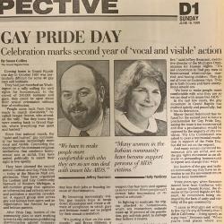 "Grand Rapids Press Article, ""Gay Pride Day"""