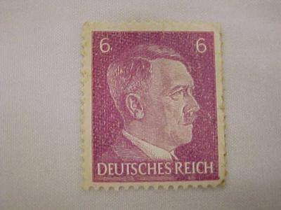 Adolph Hitler Postage Stamp, Wwii, Deutsches Reich