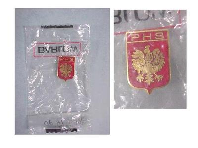 Lapel Pin In Plastic Bag, Polish Heritage Society, Grand Rapids Polish American Archival Collection #127