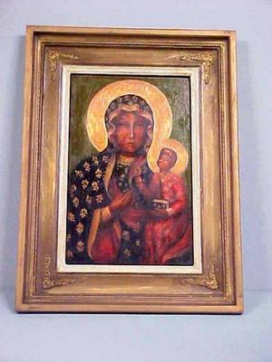 Black Madonna, Or Our Lady Of Czestochowa, Or Matka Boska Czestochowska, Grand Rapids Polish American Archival Collection #127