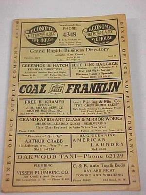 Grand Rapids Business Directory, Includes Kent County, October 1927