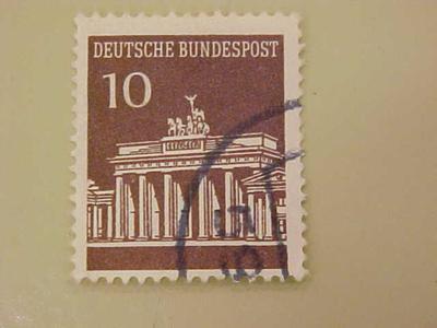 Postage Stamp West Germany, Brandenberg Gate
