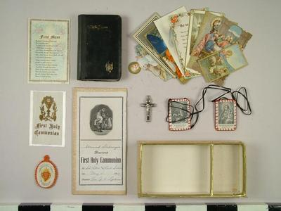 1st Communion Remembrance Box And Accessories, Grand Rapids Polish American Archival Collection #127