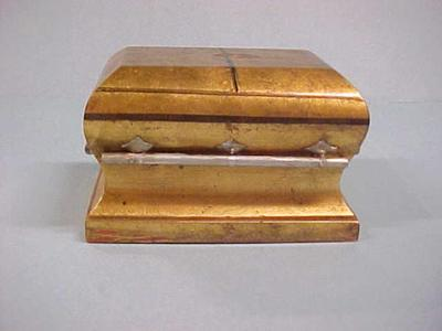 Coffin Or Casket Model, Miniature, John Arsulowicz, Jr. Archival Collection #135
