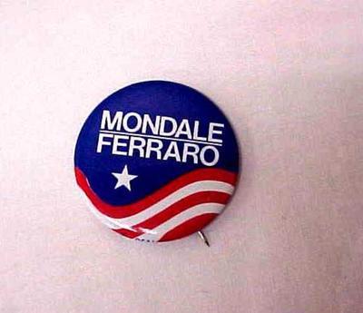 Political Campaign Button - Mondale/ferraro