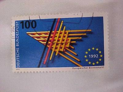 Postage Stamp, Single European Market, Germany