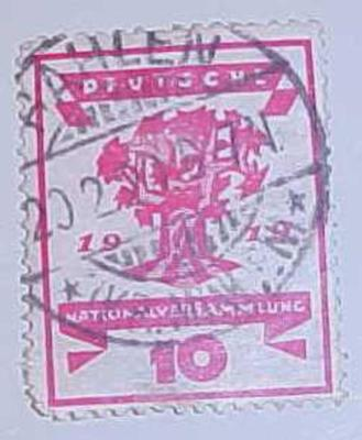 Postage Stamp, German Republic National Assembly Issue