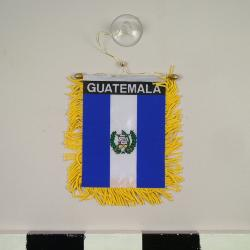 Automobile Rear-view Mirror Flag, Guatemala