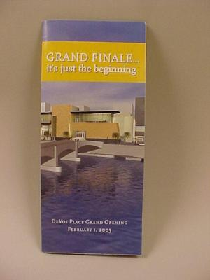 Booklet Or Brochure, Devos Place Grand Finale,  It's Just The Beginning
