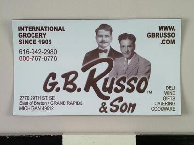 Refrigerator Magnet, G. B. Russo & Son