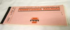 Ticket Stubs, Pennsylvania Rr And Santa Fe Rr, 1972, Lynn Riptoe Family Archival Collection #201