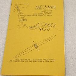 Program, Messiah Baptist Church, 1972, Lynn Riptoe Family Archival Collection #201