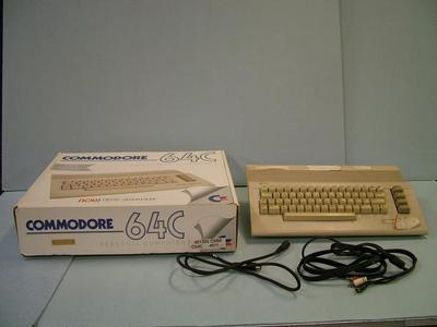 Personal Computer, Commodore 64c, With Box And Cables, Woodrow Vanhouten Personal Computer Archival Collection #200
