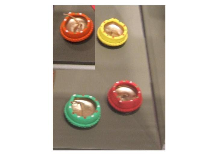 Diwali Diyas, 4, Small Ceramic Oil Lamps