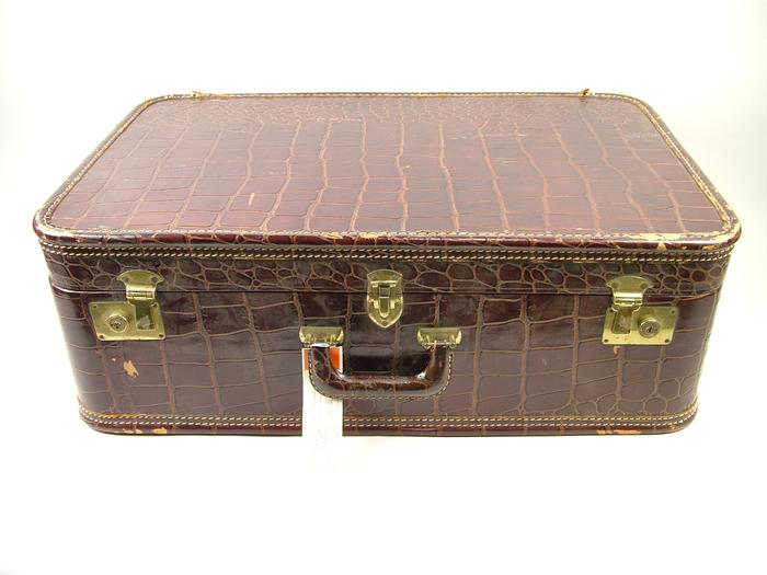 Suitcase, Alligator Skin