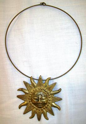 Woman's Necklace, Sun Pendant
