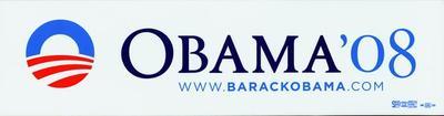 """Bumper Sticker, Obama '08"""""""