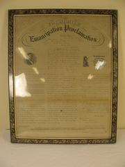 Lithograph, Facsimile Of The Emancipation Proclamation