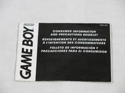 Game Boy, Consumer Information And Precautions Booklet