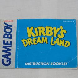 Game Boy, Kirby's Dream Land Instruction Booklet