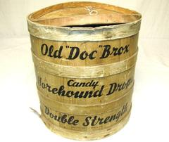 Candy Container, Old 'doc' Brox Candy Horehound Drops