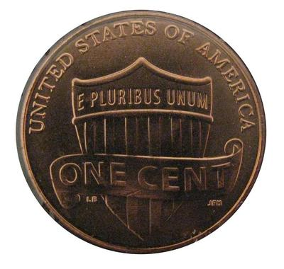 Coin, One Cent Union Shield