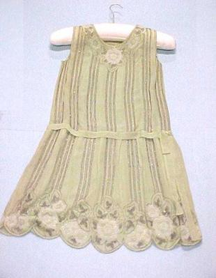Flapper Dress, Light Green, Beaded
