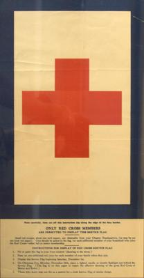 Poster, Red Cross Service Flag